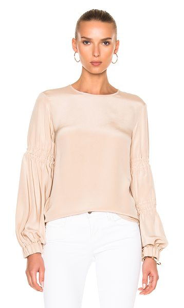 Tibi Balloon Sleeve Top in neutrals - Self & Lining: 100% silk.  Made in China.  Dry clean...