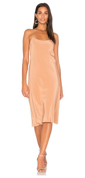 Tibi Bias Dress in brown - Self & Lining: 100% silk. Dry clean only. Fully lined....