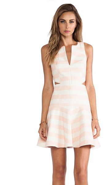 Tibi Blanket stripe dress in blush - 70% cotton 26% poly 3% other fibers 1% elastane. Dry...
