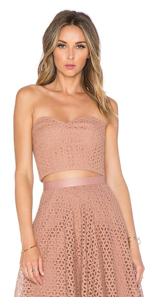 TIBI Bustier corset in blush - Self: 70% cotton 30% silkLining: 100% cotton. Dry clean...
