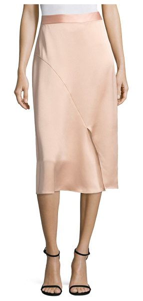 Tibi celestia pencil skirt in blush - Slim-fit pencil skirt with split detail at front. Banded...