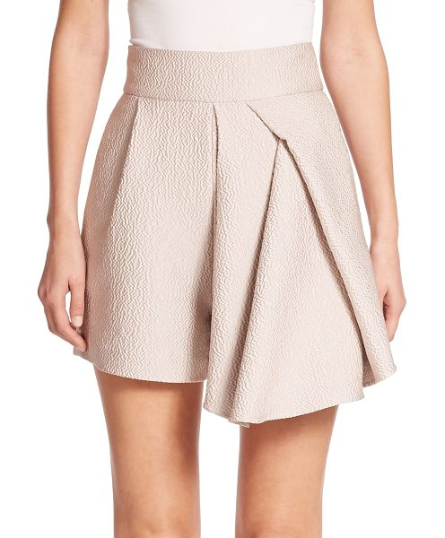 Tibi Corazon draped jacquard shorts in blushhaze - A strategically tucked, draped and pleated panel lends a...