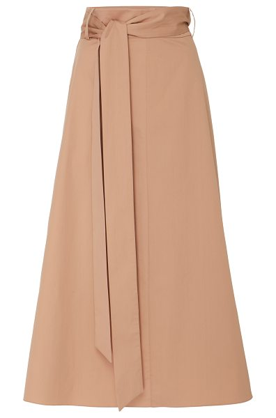Tibi Cotton Midi Skirt in neutral - Tibi's skirt is crafted from structured cotton that...