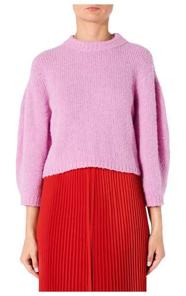 be9feab3bb Tibi Cozette Alpaca   Wool Blend Cropped Sweater