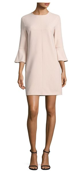 Tibi crepe shift dress in morrosand - Suave shift dress detailed with appealing ruffles....