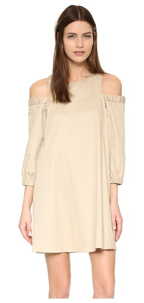 Tibi Cutout shoulder dress in sand dollar - Exclusive to Shopbop. A loose Tibi dress in a flirty,...