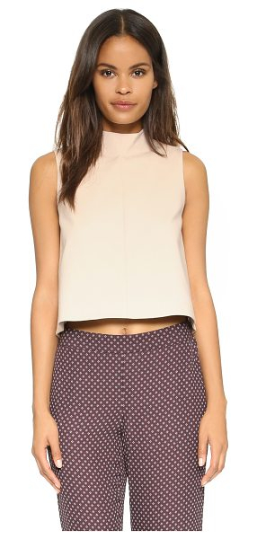 TIBI Funnel neck top - A mock neck Tibi crop top with an asymmetrical hem and a...