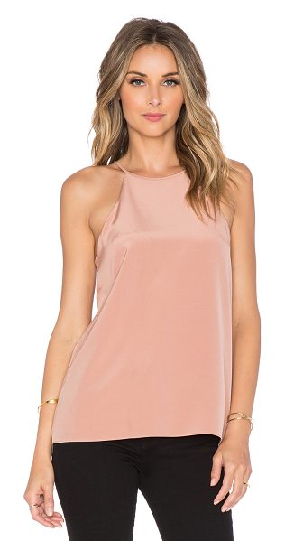 Tibi Halter cami in blush - Self & Lining: 100% silk. Dry clean only. Back keyhole...