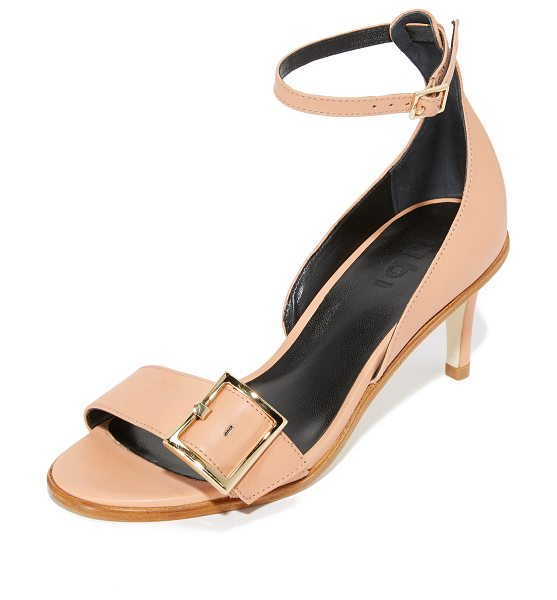 TIBI ilana sandals - Smooth leather Tibi sandals with a polished buckles at...