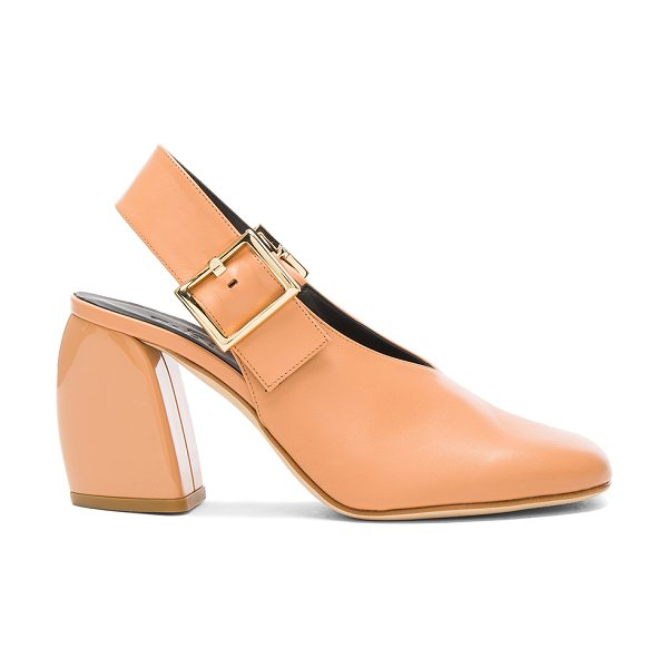 Tibi Leather Jillian Heels in neutrals - Tibi is a New York based advanced contemporary brand...