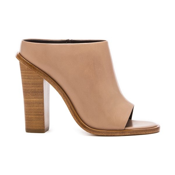 Tibi Leona heel in tan - Leather upper with leather sole. Heel measures approx...