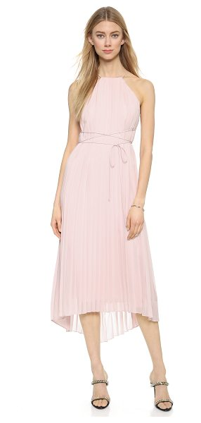 Tibi Midi dress in zen blush - Delicate spaghetti straps trace the shoulders and...