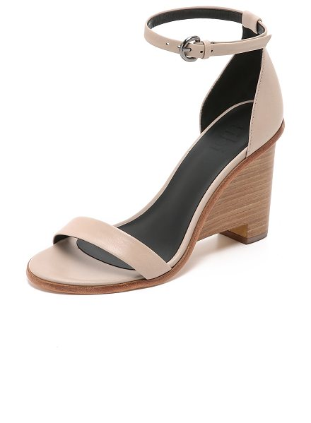 Tibi Milla wedge sandals in blush - Smooth leather composes these refined Tibi sandals....