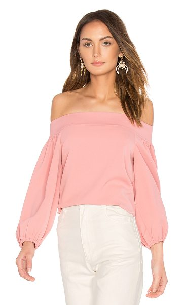 Tibi Off Shoulder Top in pink - Cotton blend. Hand wash cold. Elastic sleeve opening....