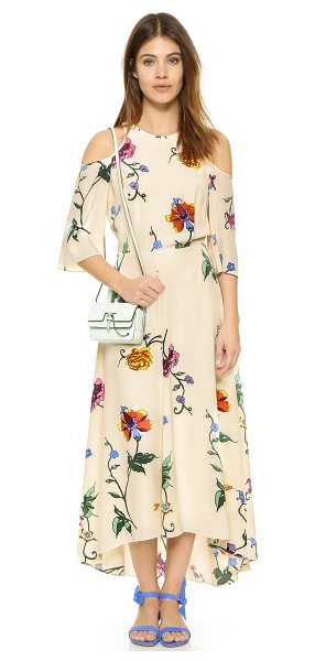 TIBI Open back dress - An illustrative floral pattern lends an artistic touch...