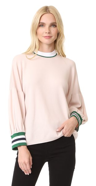TIBI oversized puff sleeve pullover - Relaxed proportions and puff sleeves add pared-back...