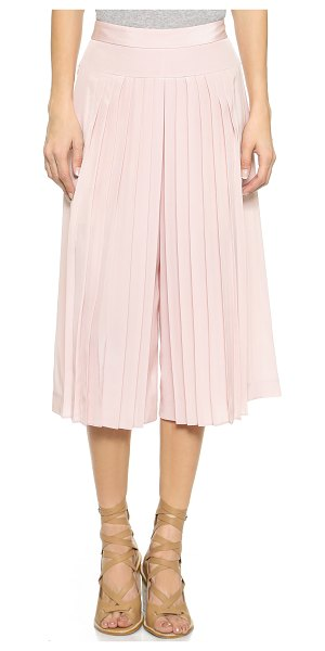 Tibi Pleated silk culottes in zen blush - Fine pleats bring low key volume to these silky Tibi...