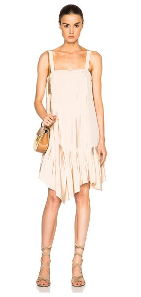 Tibi Pleated Strappy Dress in neutrals,pink - Tibi is a New York based advanced contemporary brand...