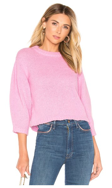 Tibi pullover sweater in deep pink