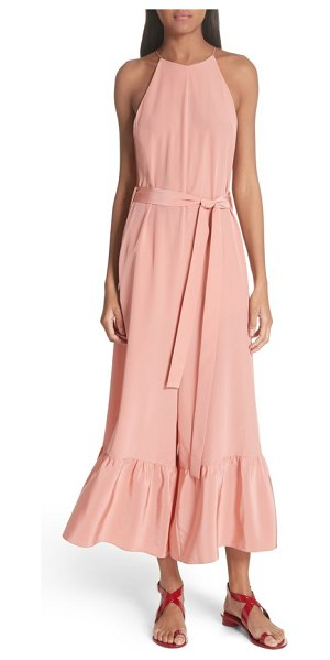 Tibi ruffle silk jumpsuit in pink - This joy-sparking jumpsuit lightens things up with a...