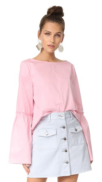TIBI bell sleeve top - A boxy Tibi top with a lustrous feel. Long bell sleeves...