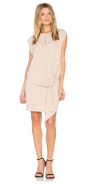 Tibi Savanna Tie Front Dress in beige