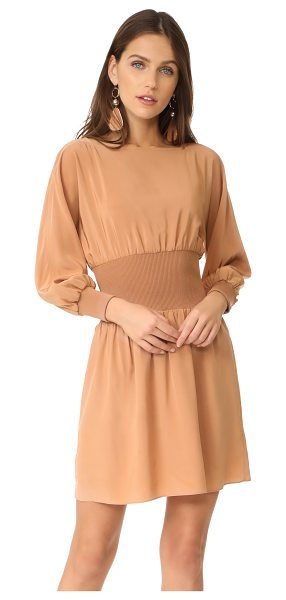 Tibi sculpted corset dress in desert blush - A wide, ribbed panel defines the waist on this silk Tibi...