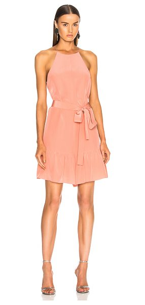 Tibi Silk CDC Halter Ruffle Romper in pink - Self & Lining: 100% silk.  Made in China.  Dry clean...