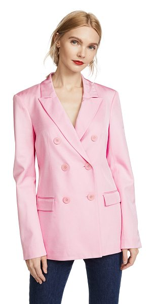 Tibi steward blazer in pink - Fabric: Suiting Double-breasted placket Blazer style...