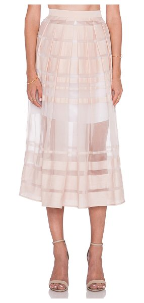 Tibi Striped organza skirt in blush - Self: 55% cotton 45% silkCombo: 100% silkLining: 57%...