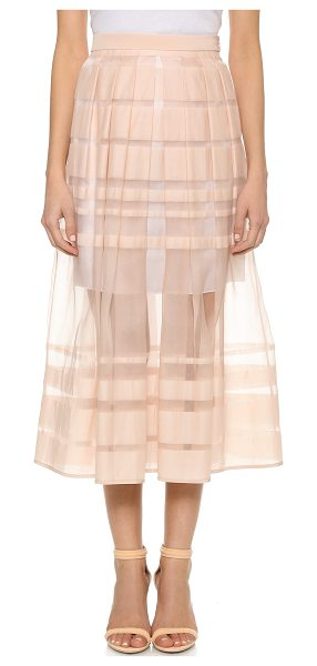 Tibi Striped skirt in shell - Shadow stripes bring subtle pattern to this ladylike...
