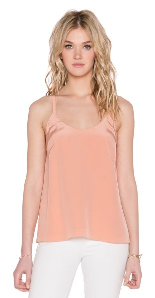 Tibi Tie back cami in peach - Self & Lining: 100% silk. Dry clean only. Back bow...
