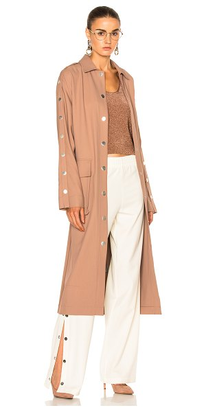 TIBI Trench Coat in neutrals,pink - Tibi is a New York based advanced contemporary brand...