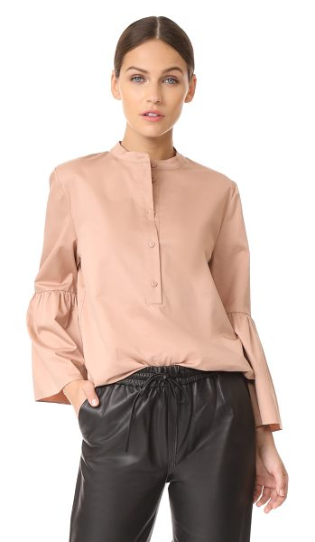 TIBI tunic with shirred back - A gathered back panel adds soft volume to this loose...