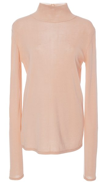 Tibi Turtleneck Pullover in pink - This *Tibi* Turtleneck Pullover features a relaxed fit.