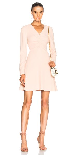 Tibi V Neck Dress in pink - Self: 70% triacetate 30% poly - Lining: 100% silk.  Made...