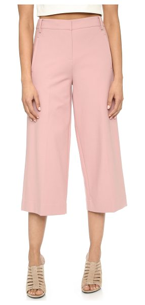 Tibi Wide leg pants in mineral blush - Modern Tibi trousers with a cropped, wide leg profile....
