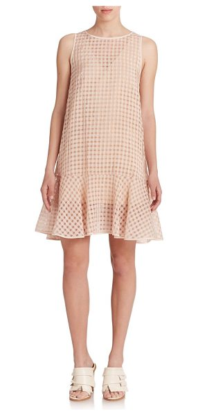 TIBI Windowpane check dress - A timeless windowpane check with semi-sheer allure...