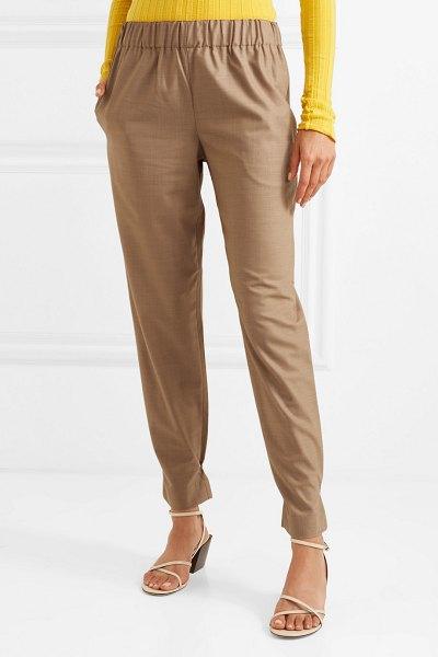 Tibi woven tapered pants in sand