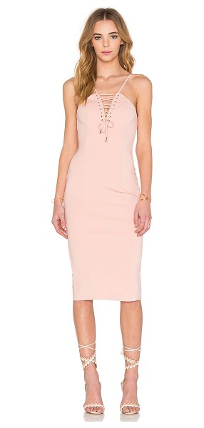 tiger Mist Vixen Dress in blush - Self: 95% nylon 5% spandexLining: 100% poly. Hand wash...