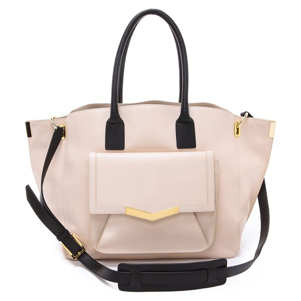 Time's Arrow Jo tote in bone - Smooth leather brings sophisticated appeal to an...