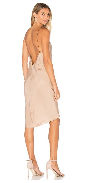 TITANIA INGLIS Ravine Slip Dress in beige - 100% cupro. Dry clean recommended. Unlined. TITR-WD14....