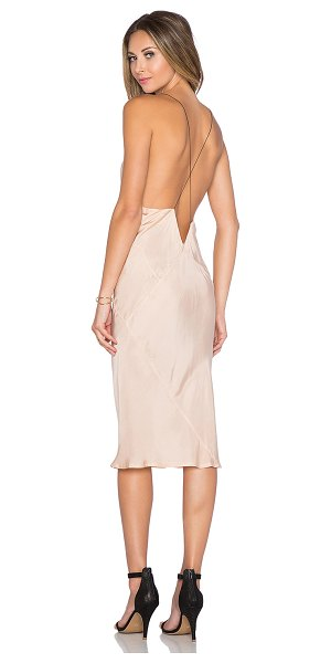 TITANIA INGLIS x REVOLVE Plunge Slip dress in blush - 100% cupro. Hand wash cold. Unlined. TITR-WD5. DRS1105....