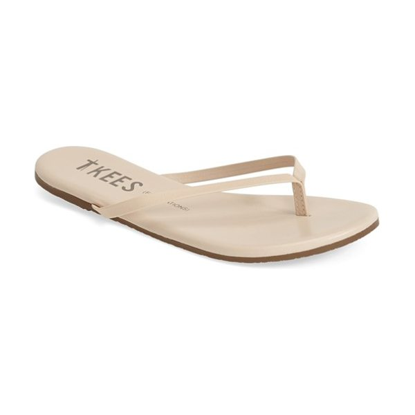 TKEES 'foundations' flip flop in seashell - Slim straps show off your pedicured polish on an...