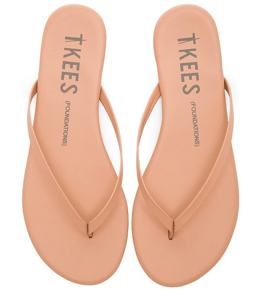 TKEES foundations matte flip flop in nude beach