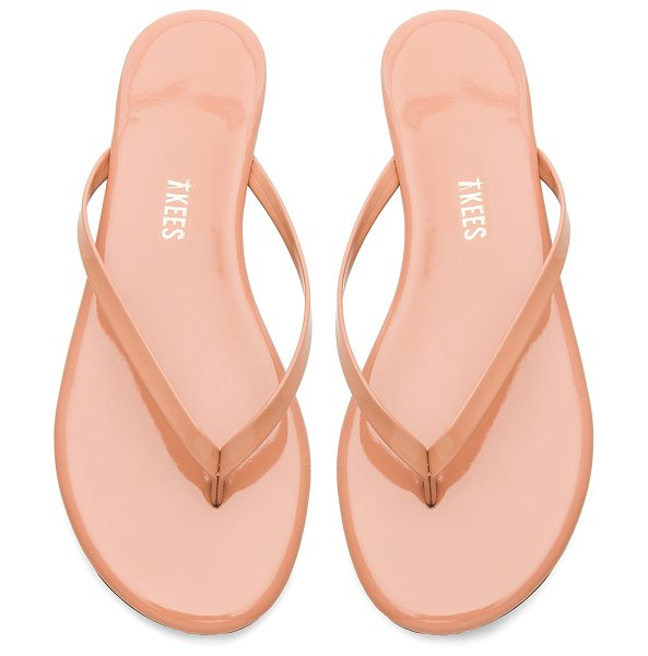 TKEES foundations gloss flip flop in nude beach