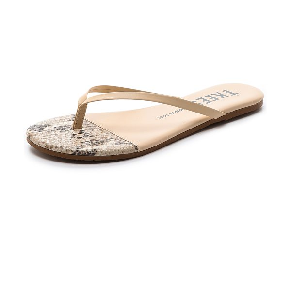 TKEES French tips flip flops - Classic TKEES flip flops in a neutral shade. Padded...