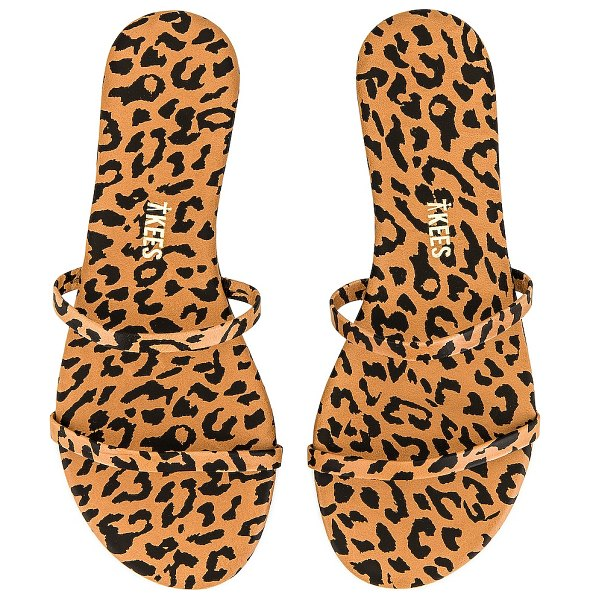 TKEES gemma exotic sandal in cheetah