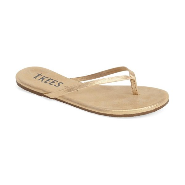TKEES 'glitters' flip flop - These Brazilian-made flip-flops feature shimmering...
