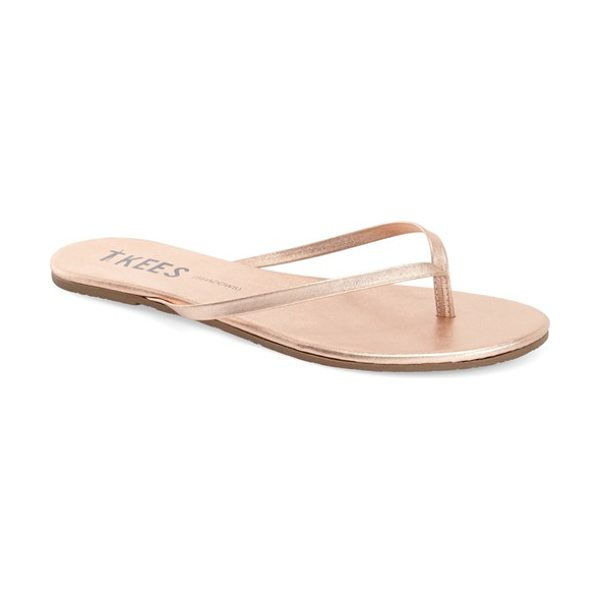 TKEES 'highlighters' flip flop in beach pearl - Slim straps emulate a range of polishes, glosses and...